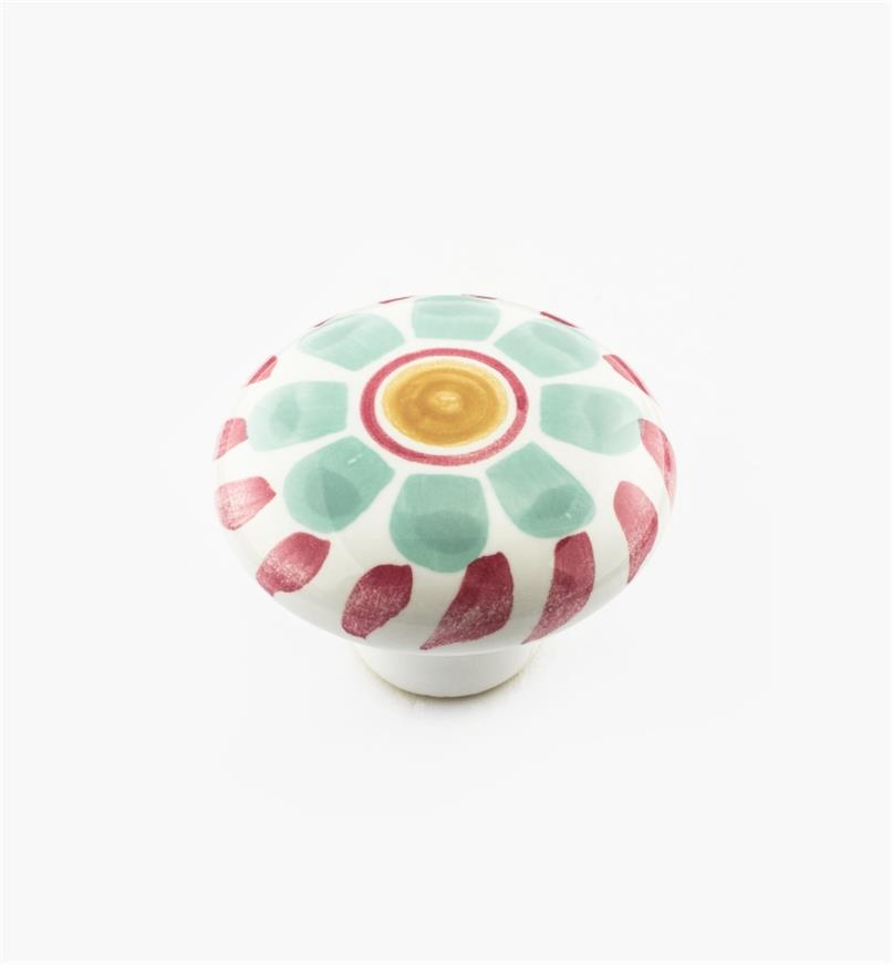 01W3106 - Green Floral Knob