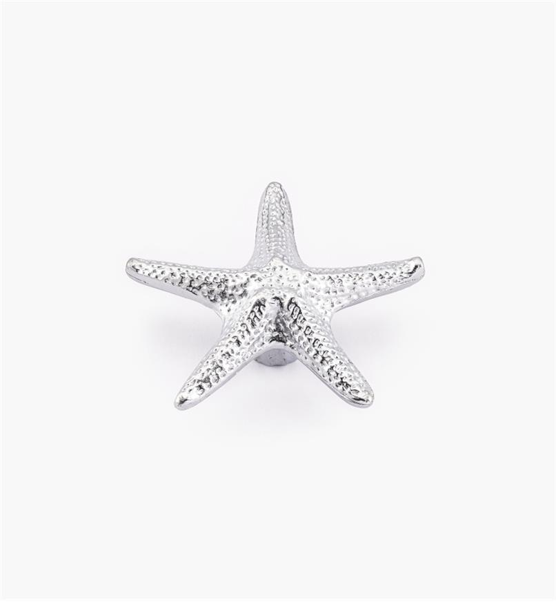 00W5115 - Bouton océanique, étoile de mer, grand, 24mm x 70mm