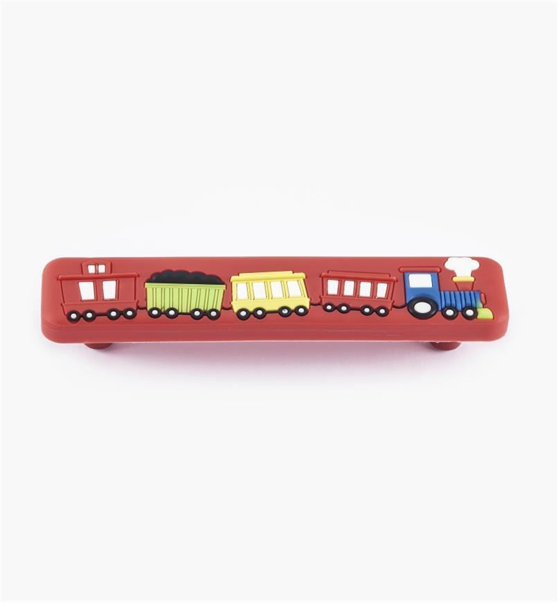 00W5636 - Poignée train, rouge, 96mm