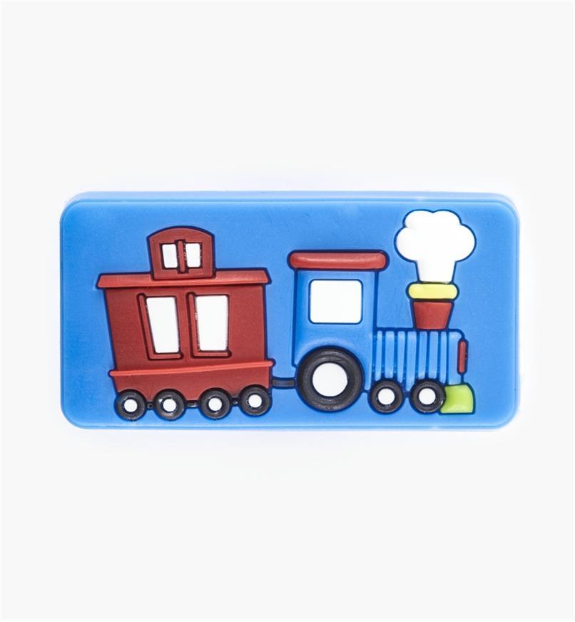 00W5637 - Bouton train, bleu