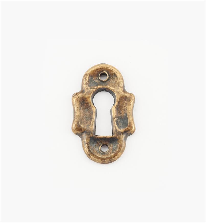 01A3991 - Entrée de serrure verticale de 21 mm x 35 mm, quincaillerie rustique perlée, série IV
