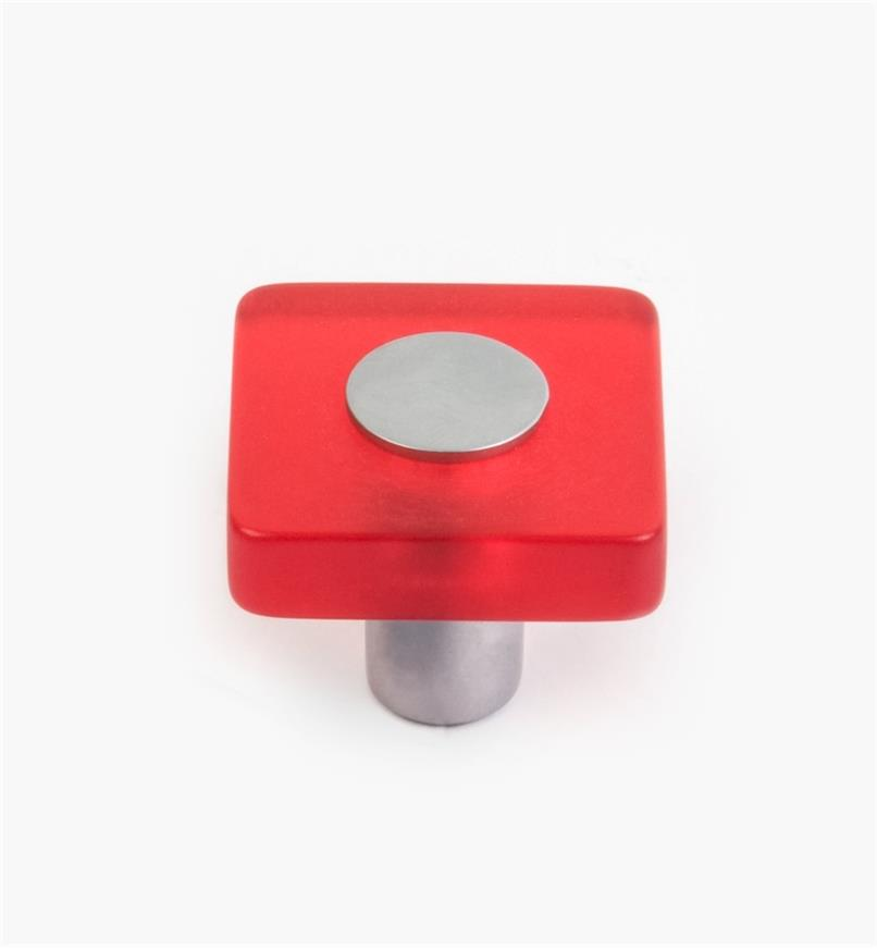 01W1160 - Malaga Hardware, Red Square Knob