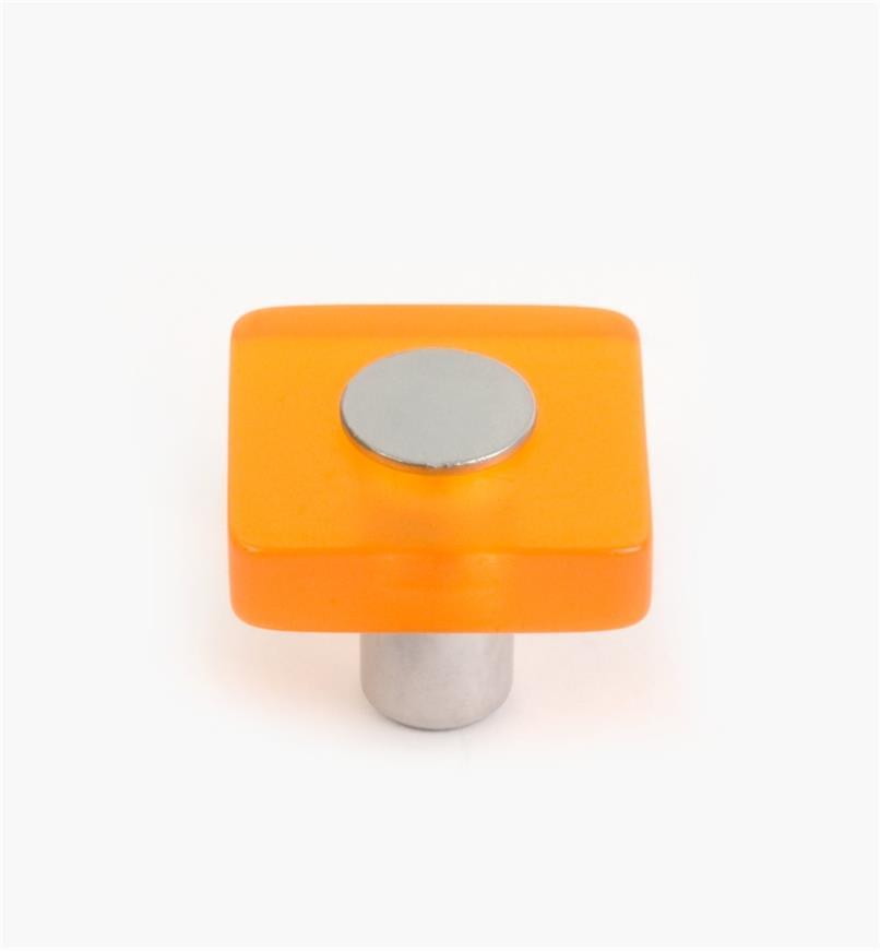 01W1170 - Malaga Hardware, Orange Square Knob