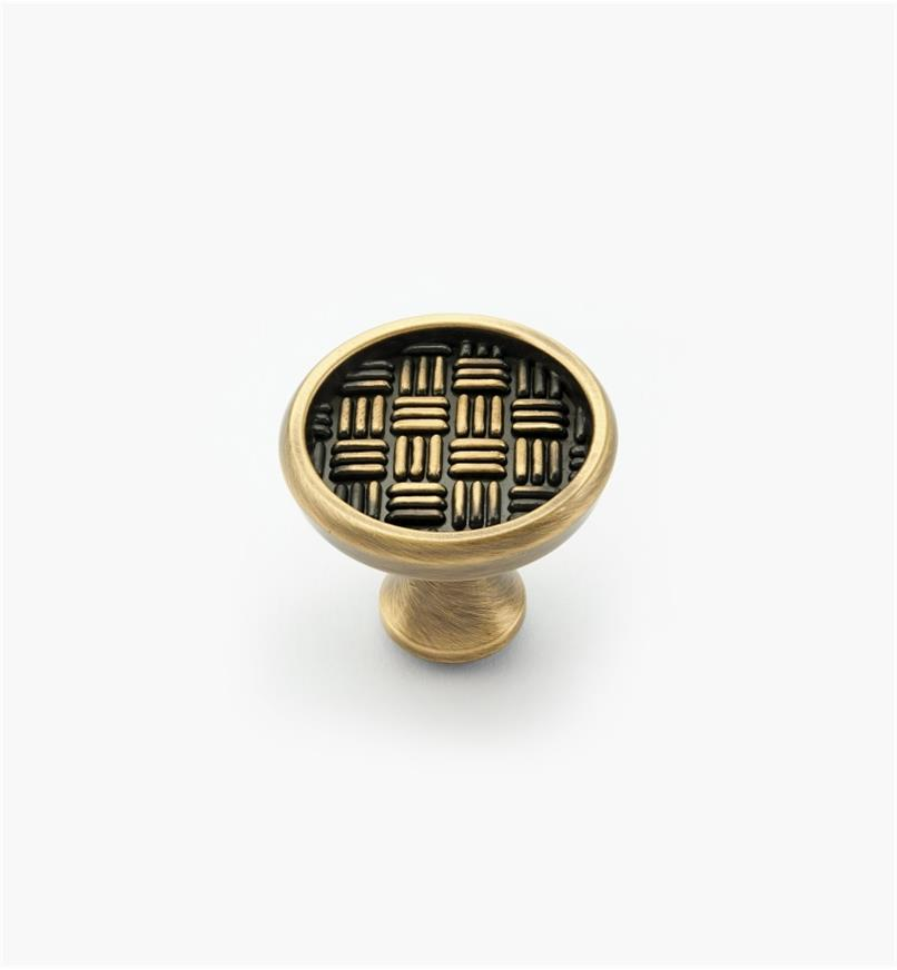 02A4131 - Patterns II Elegant Brass Round Knob