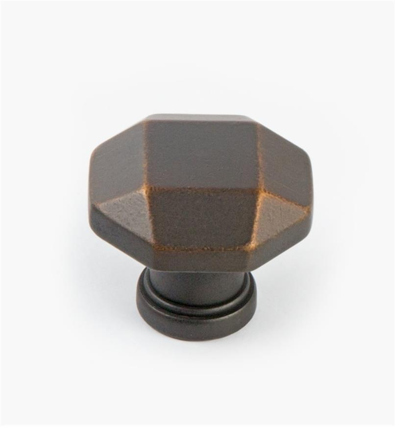 02A5271 - Menlo Park Hardware Antique Bronze Faceted Knob, 1 1/4""