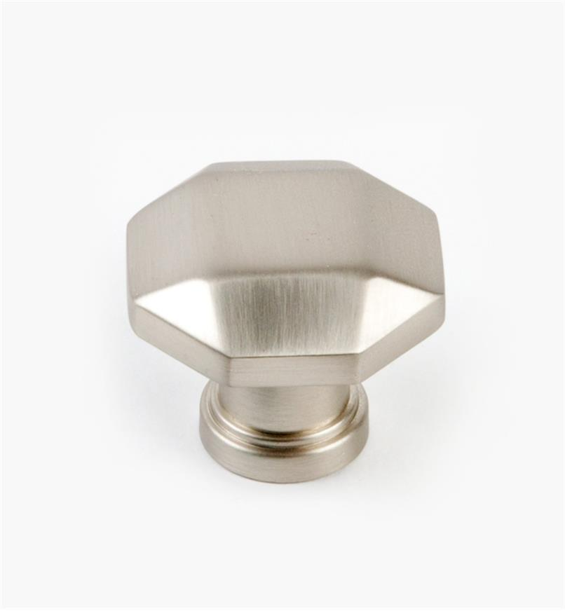 02A5281 - Menlo Park Hardware Satin Nickel Faceted Knob, 1 1/4""