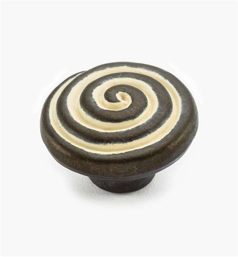 02W3603 - Rustic Biscayne Antique Swirl Knob