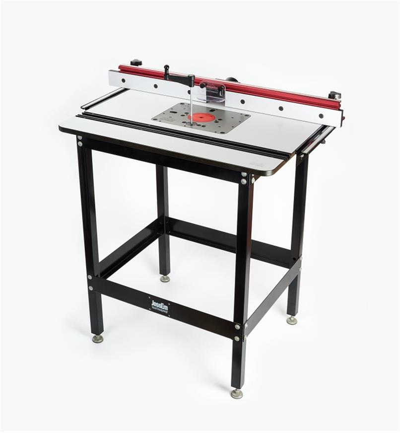86N4220 - JessEm Rout-R-Lift II for Porter Cable 690, DeWalt, Bosch 2HP   Table Top, Fence & Stand