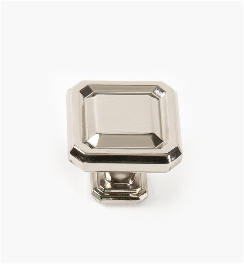 02A1616 - Wells Polished Nickel 38mm x 35mm Knob, each