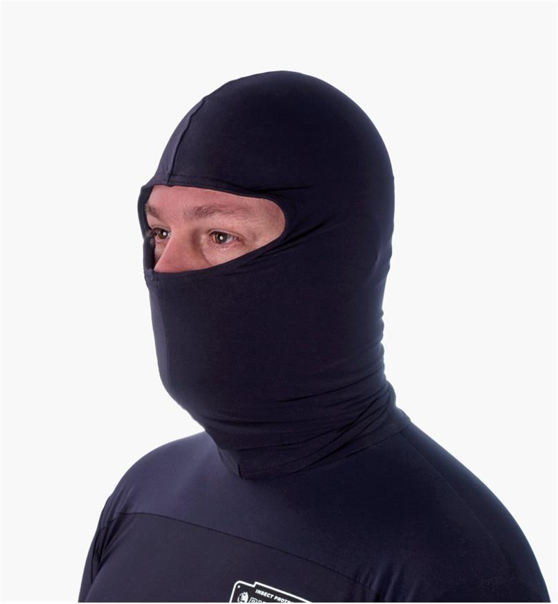 A man wearing a Rynoskin hood