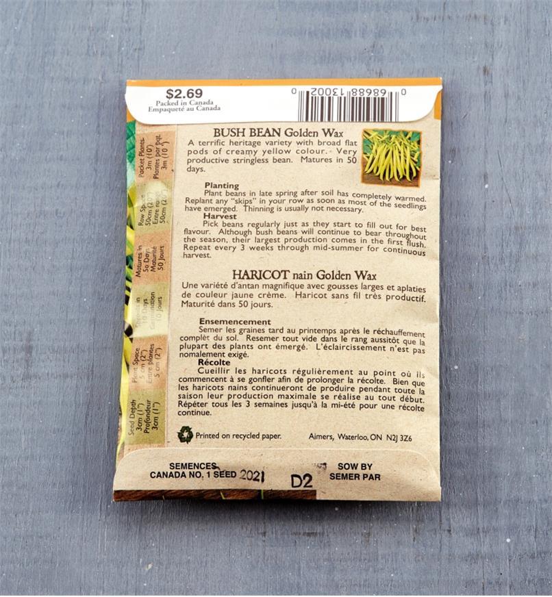 SD100 - Org Yellow Bean, Gld Wax (Hrlm)