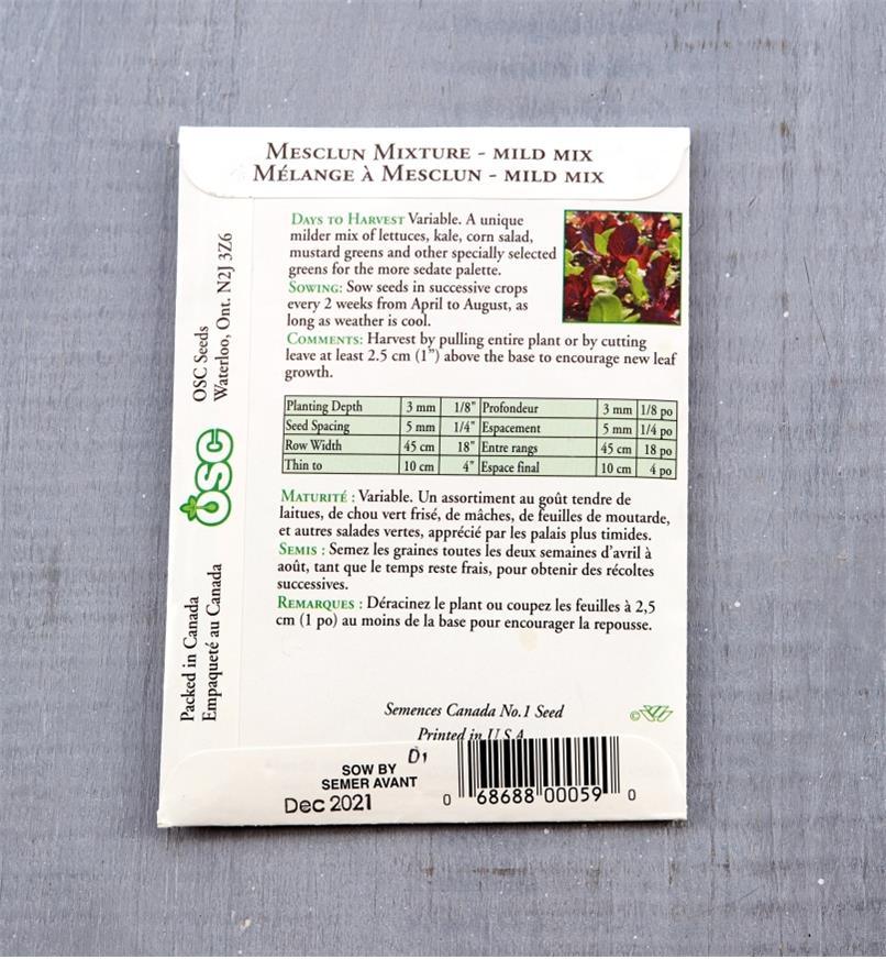 SD111 - Mesclun, Mild Mix