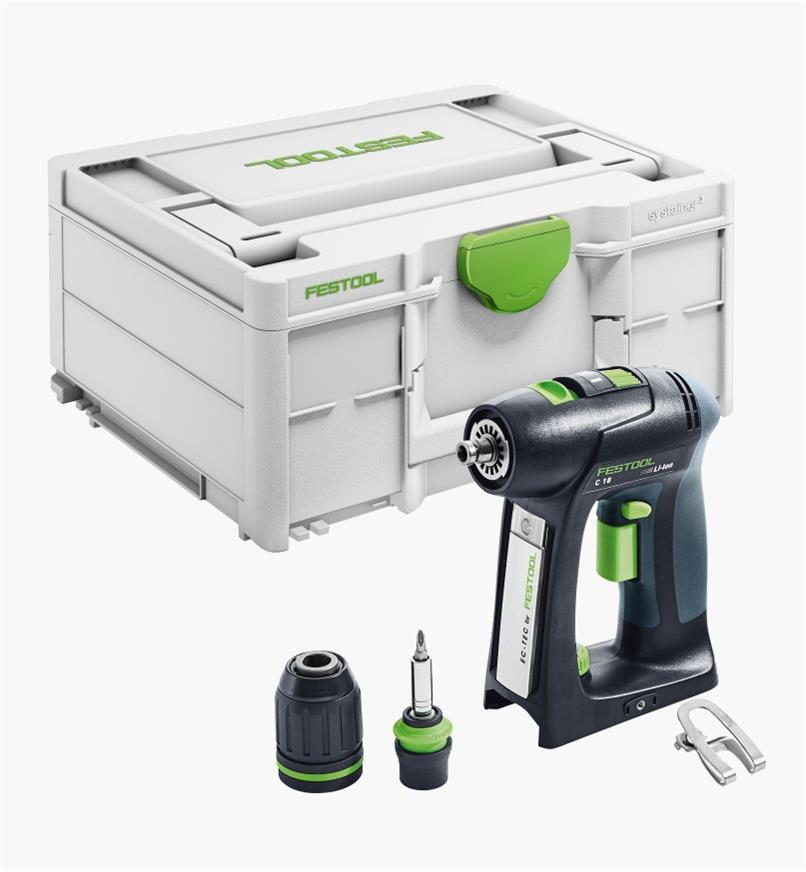 Perceuse-visseuse sans fil de base C 18 Festool