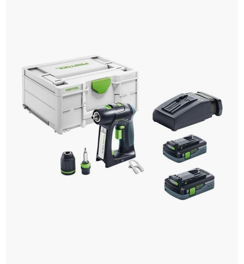 ZC576444 - Ensemble perceuse-visseuse sans fil C 18 Festool