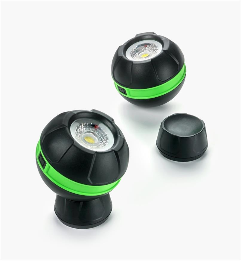 25K4117 - Pair of Magnetic LED Orb Lights