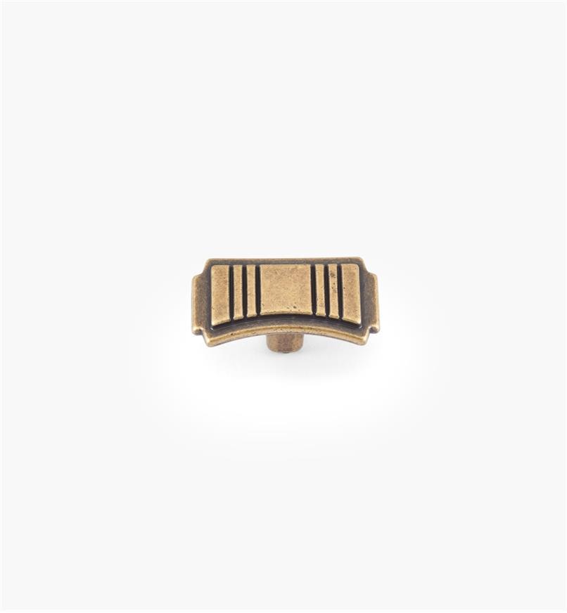 00A7601 - Bouton, série Belair, fini laiton antique