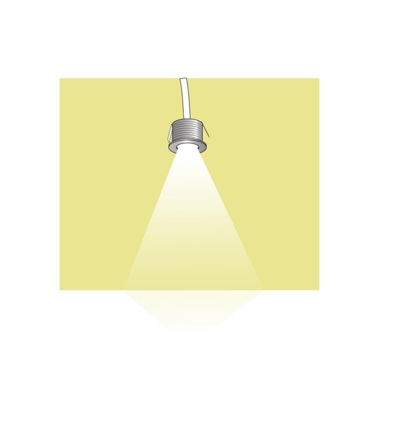 Illustration of Mini Recessed LED Light being installed
