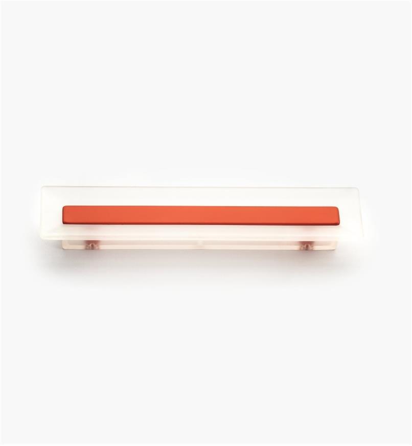 00W5433 - Poignée rectangulaire, 96mm, série Bungee, rouge