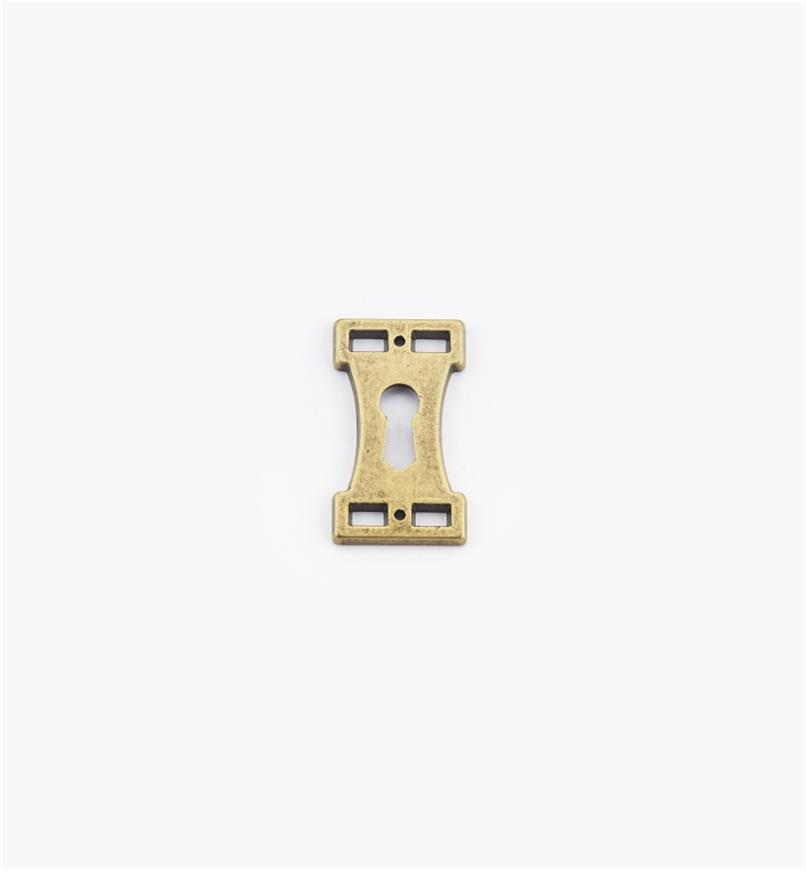 01A2286 - Keyhole Escutcheon, Arts and Crafts Suite I