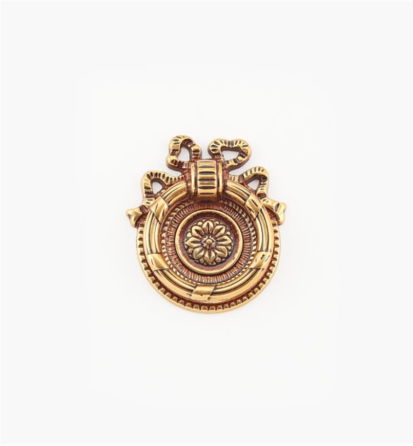 01A6563 - Poignée à anneau de 43mm, quincaillerie LouisXVI, sérieVII