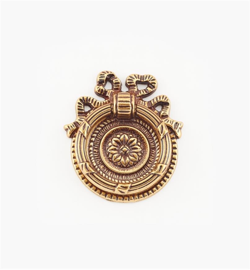 01A6572 - Poignée à anneau de 52mm, quincaillerie LouisXVI, sérieVII