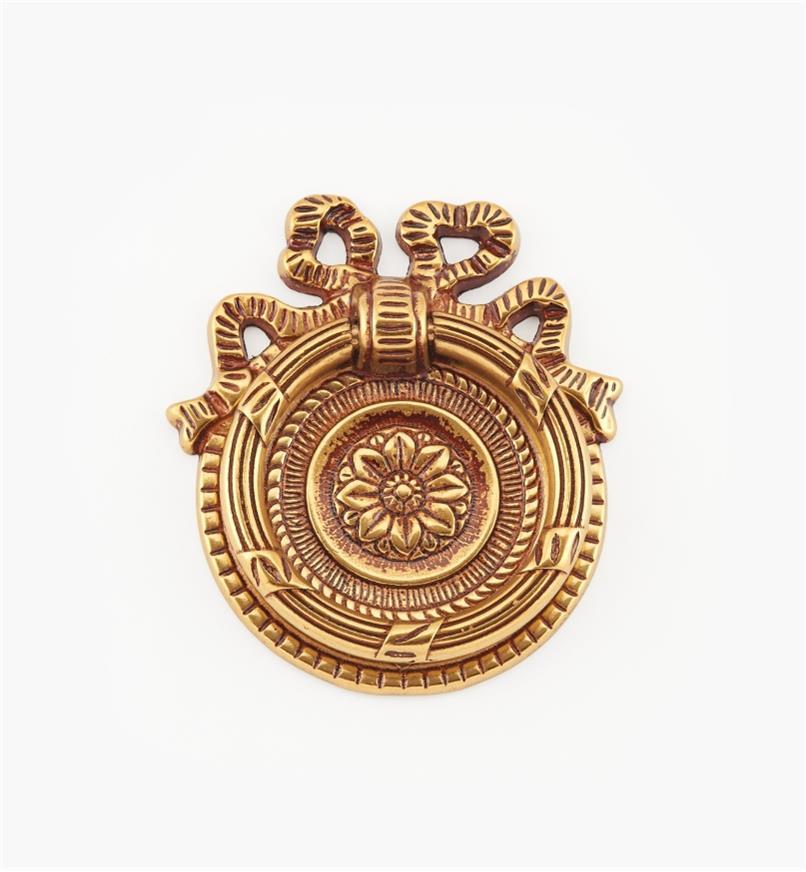 01A6582 - Poignée à anneau de 62mm, quincaillerie LouisXVI, sérieVII