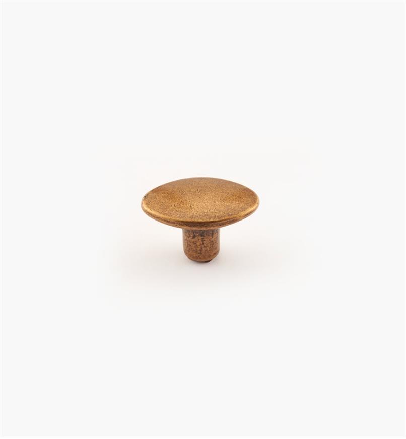 01A6930 - Bouton de 30 mm x 19 mm, série Regency, fini laiton antique