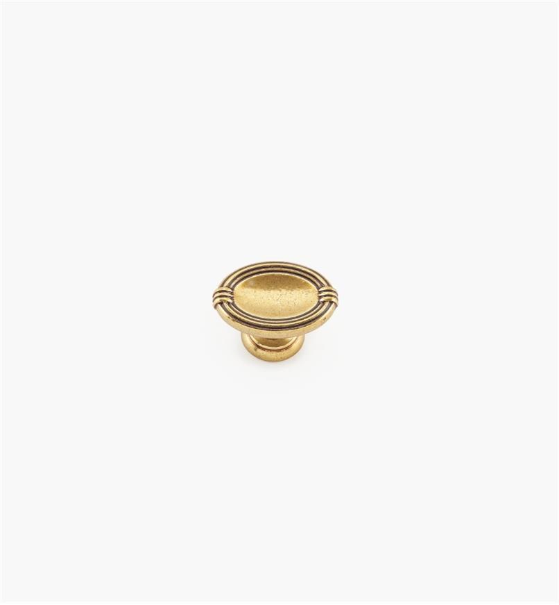 01A7330 - Bouton ovale de 29mm x 20mm, quincaillerie Louis XVI, série V