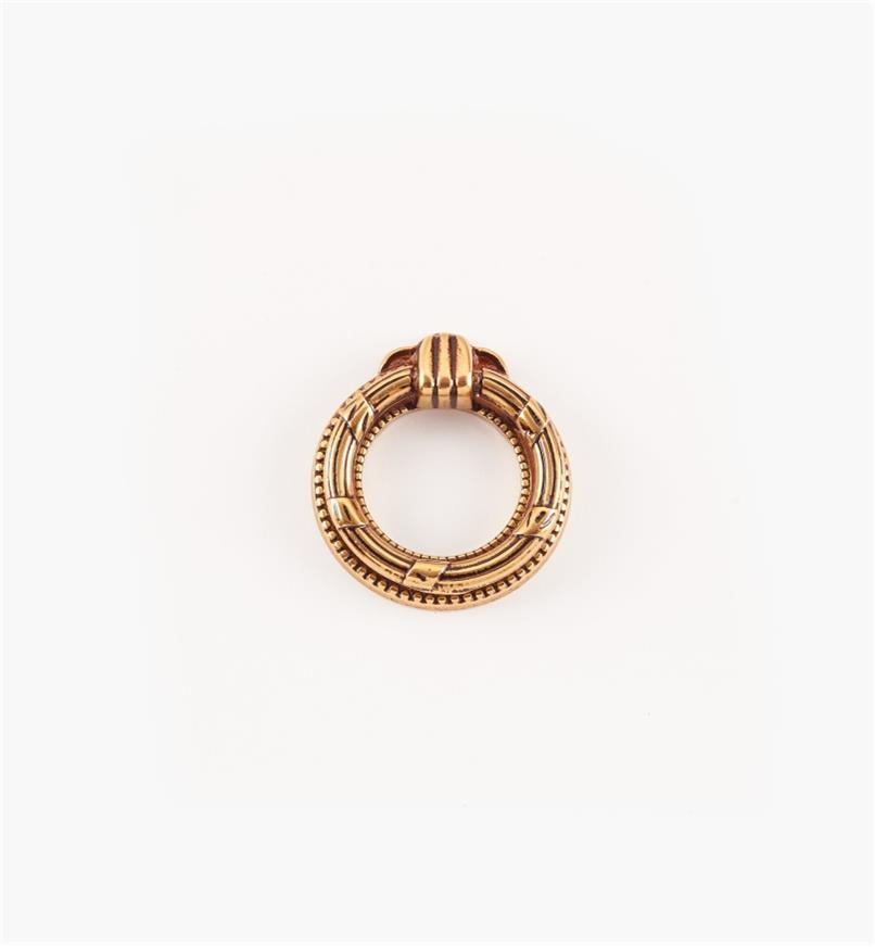01A7360 - Poignée à anneau de 38 mm x 42 mm, quincaillerie Louis XVI, série VIII