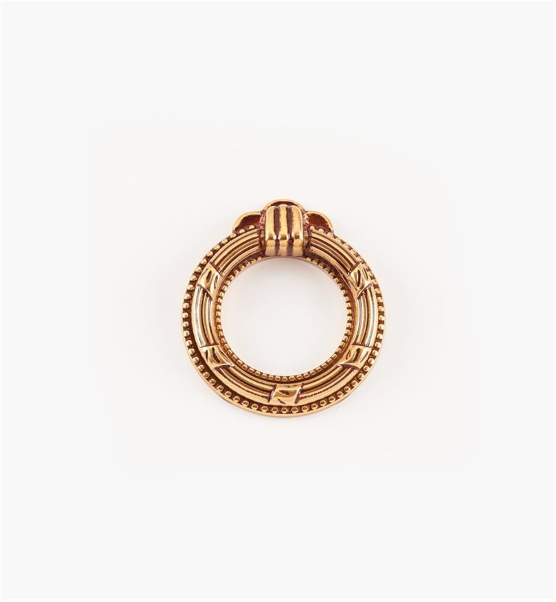 01A7361 - Poignée à anneau de 47 mm x 52 mm, quincaillerie Louis XVI, série VIII