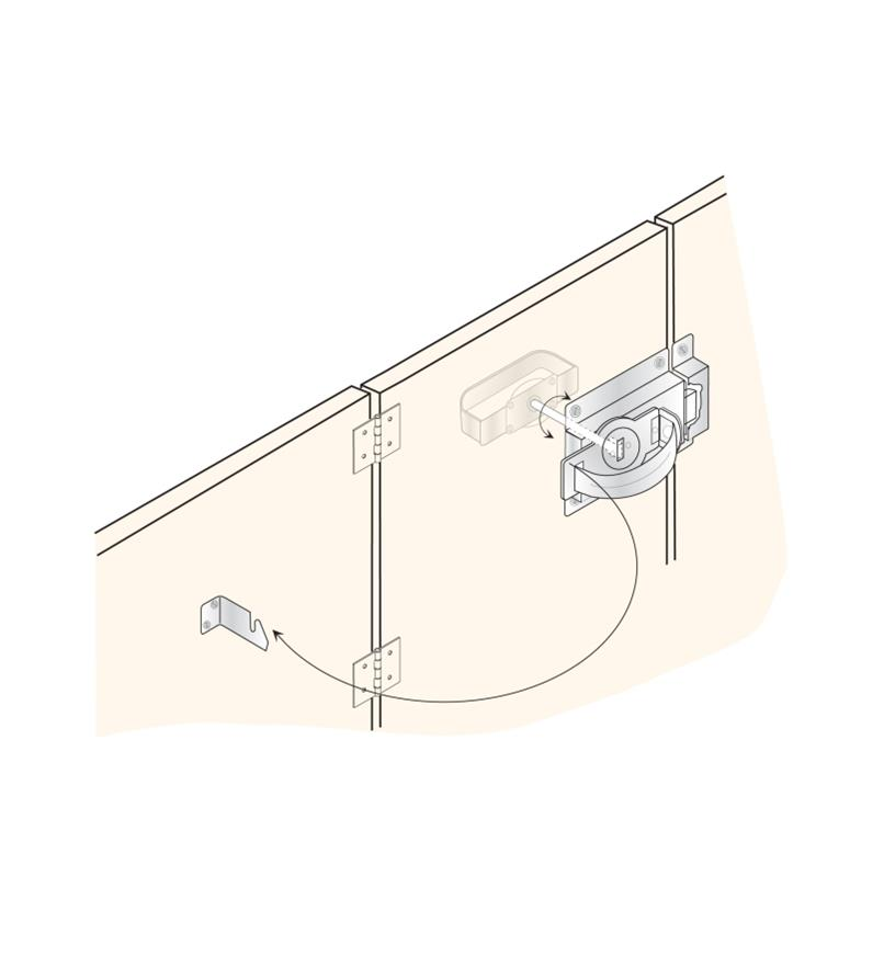 01S1010 - Gate Thumb Latch & Handle