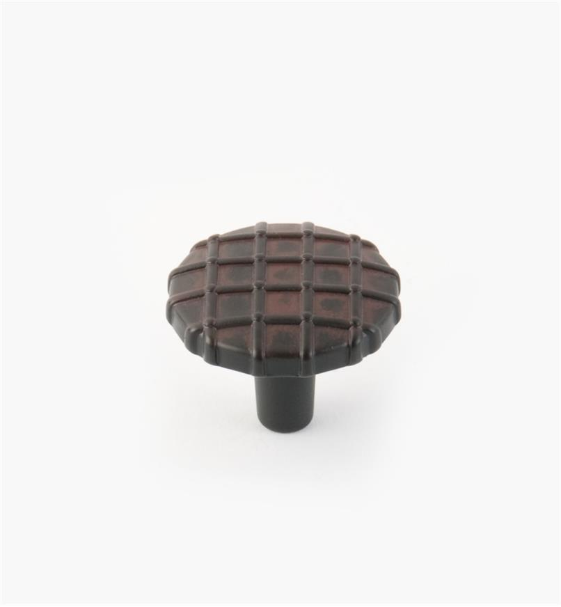 01W5050 - Midtown Suite – Black Iron w/Terra Cotta Wash Knob