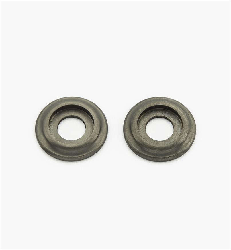01W8011 - Rosaces pour poignée en laiton coulé, étain, la paire
