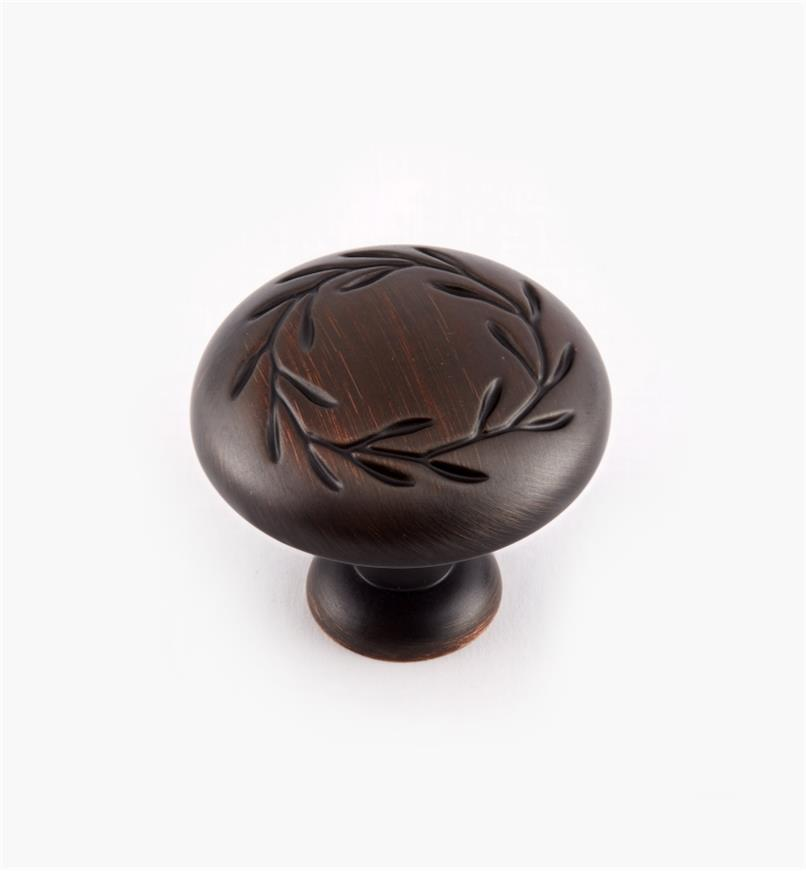 "02A0534 - 1 1/4"" Oil-Rubbed Bronze Leaf Knob"