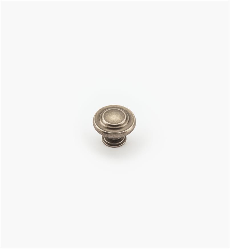 02A0715 - Bouton annelé de 15/16po, série Inspirations, fini nickel vieilli