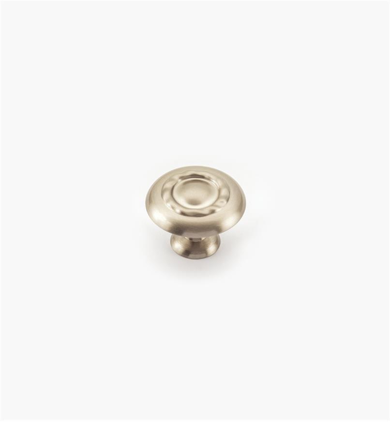 02A1071 - Bouton à motif cordé de 13/4po, série Inspirations, fini chrome satiné