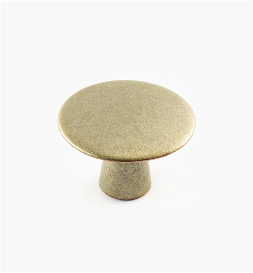 02A1312 - 40mm x 27mm Weathered Nickel-Copper Plain Knob
