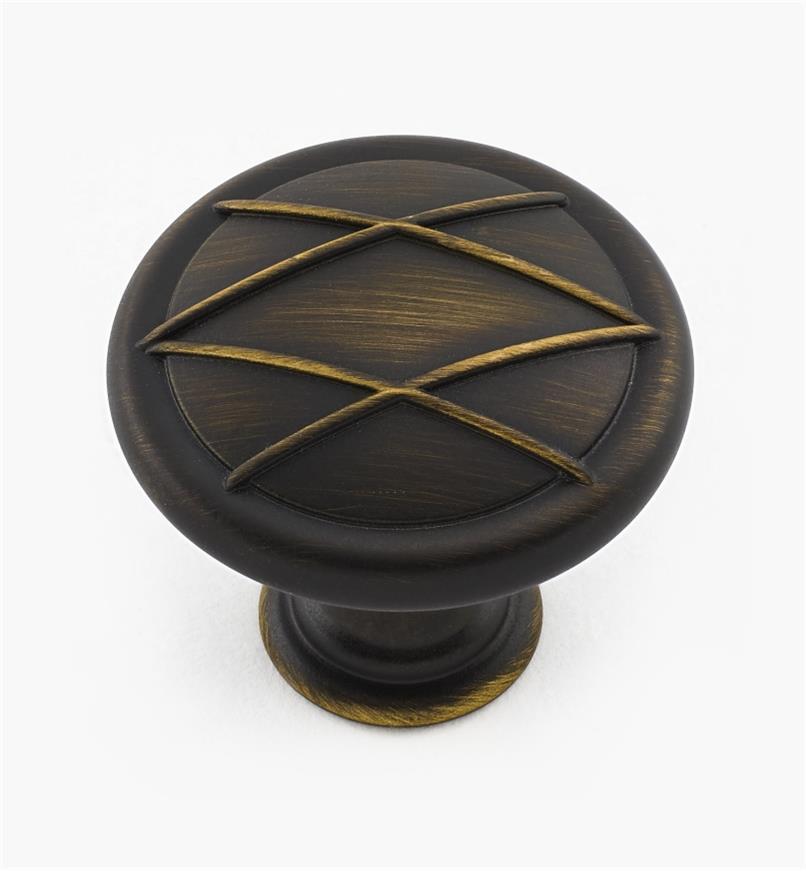 "02A1373 - 1 5/16"" Roman Bronze Knob"