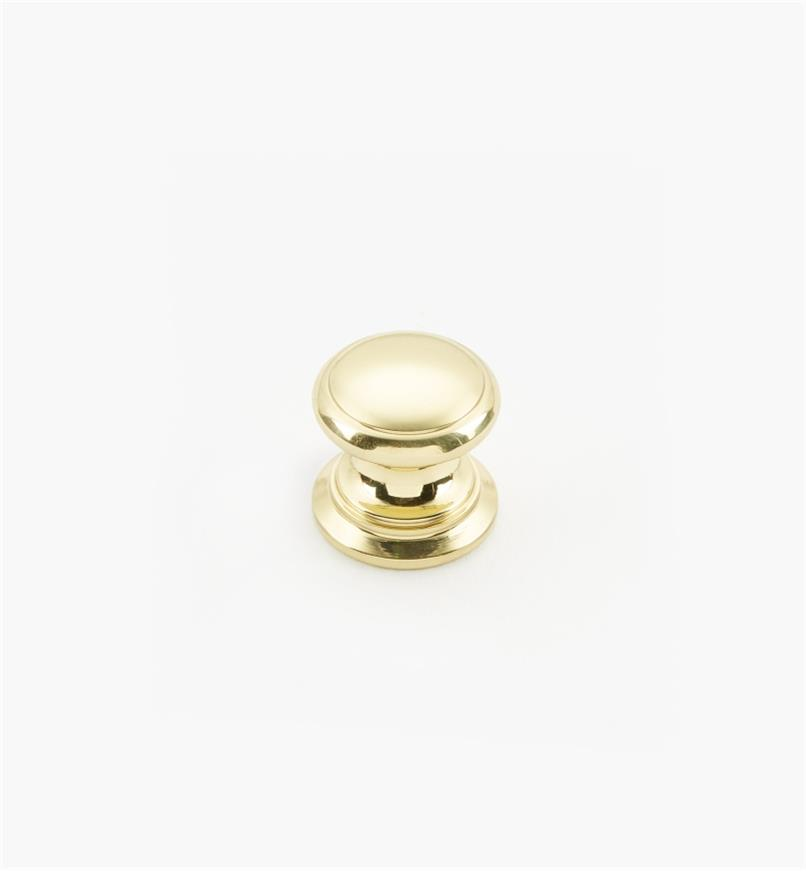 "02W1406 - Polished Brass Suite - 5/8"" x 5/8"" Round Brass Knob"