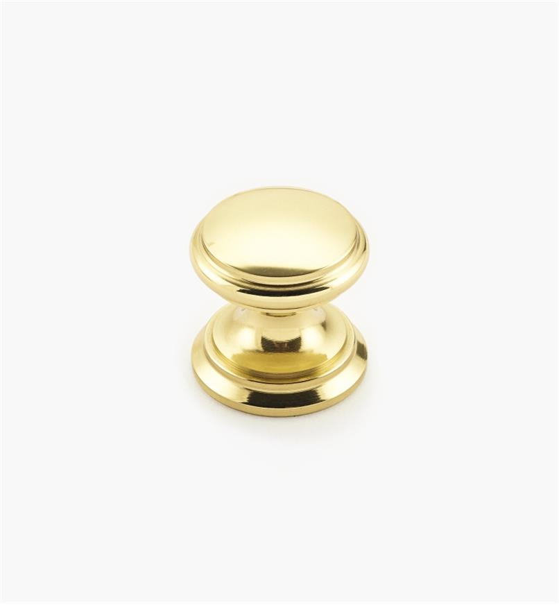 "02W1407 - Polished Brass Suite - 3/4"" x 3/4"" Round Brass Knob"
