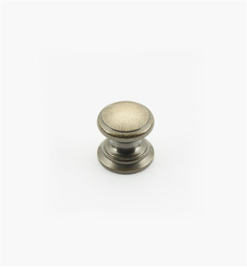 "02W1416 - Antique Brass Suite - 5/8"" x 5/8"" Round Brass Knob"