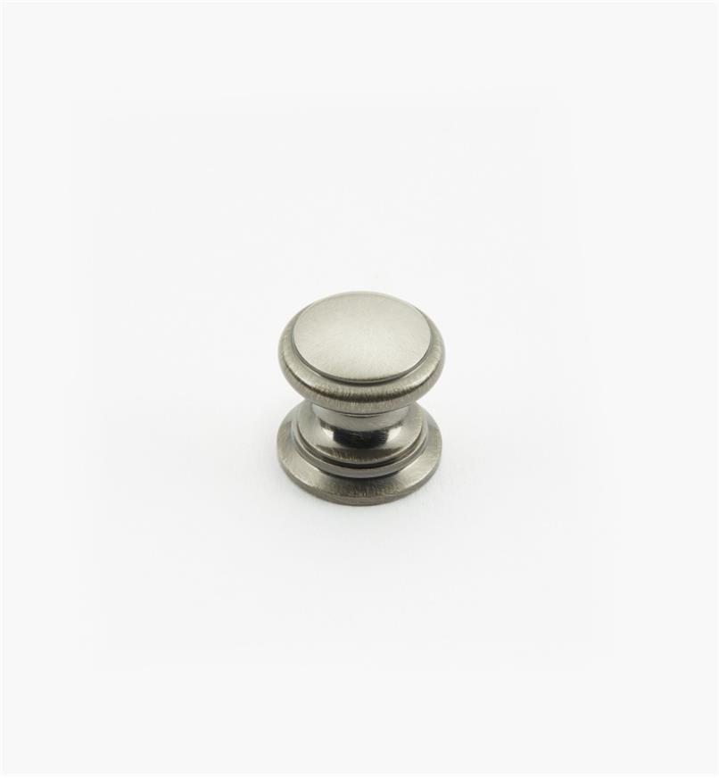 "02W1436 - Antique Nickel Suite - 5/8"" x 5/8"" Round Brass Knob"