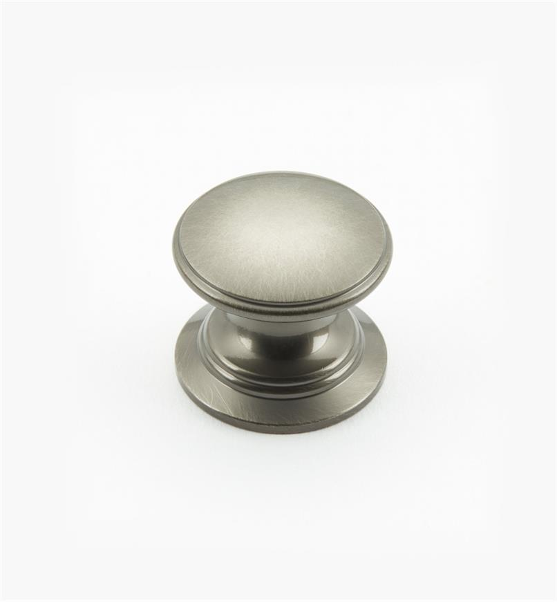 "02W1438 - Antique Nickel Suite - 1"" x 7/8"" Round Brass Knob"