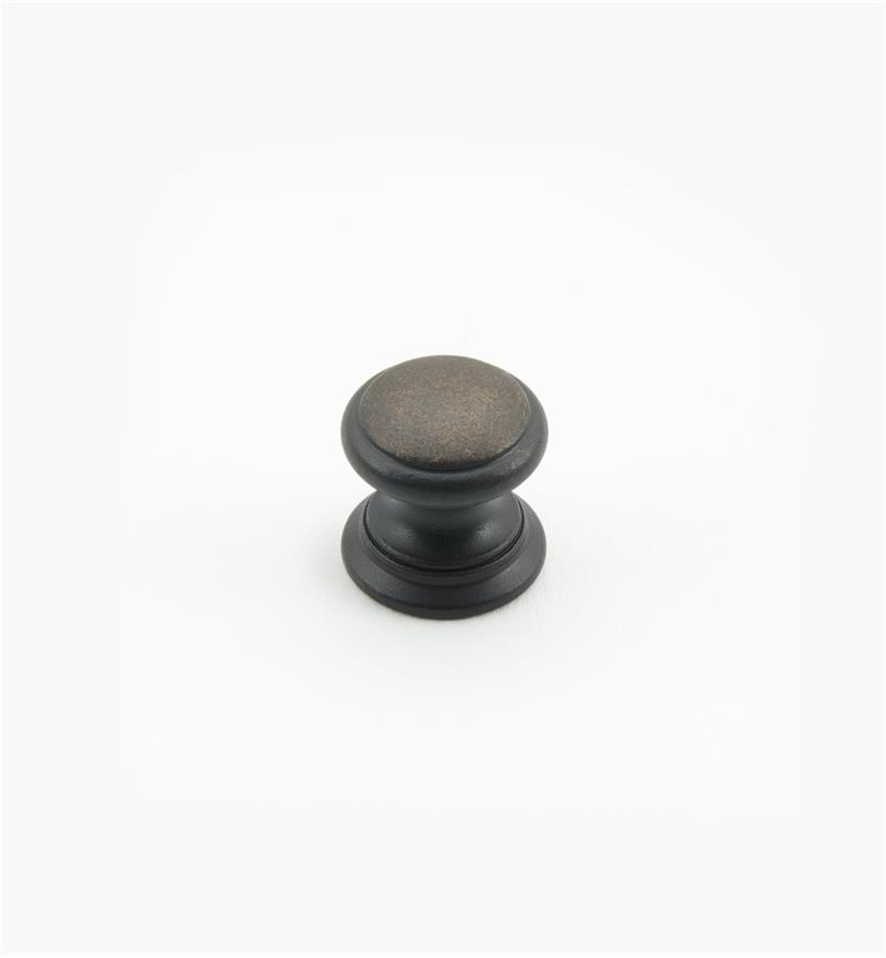 "02W1446 - Weathered Bronze Suite - 5/8"" x 5/8"" Round Brass Knob"