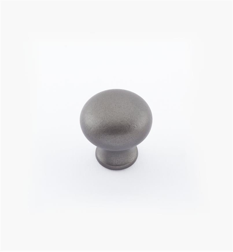 02W1452 - Bouton bombé en laiton de 3/4 po × 3/4 po, fini étain