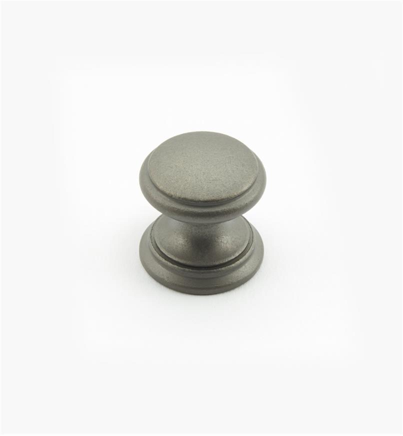 """02W1457 - Pewter Suite - 3/4"""" x 3/4"""" Round Brass Knob"""