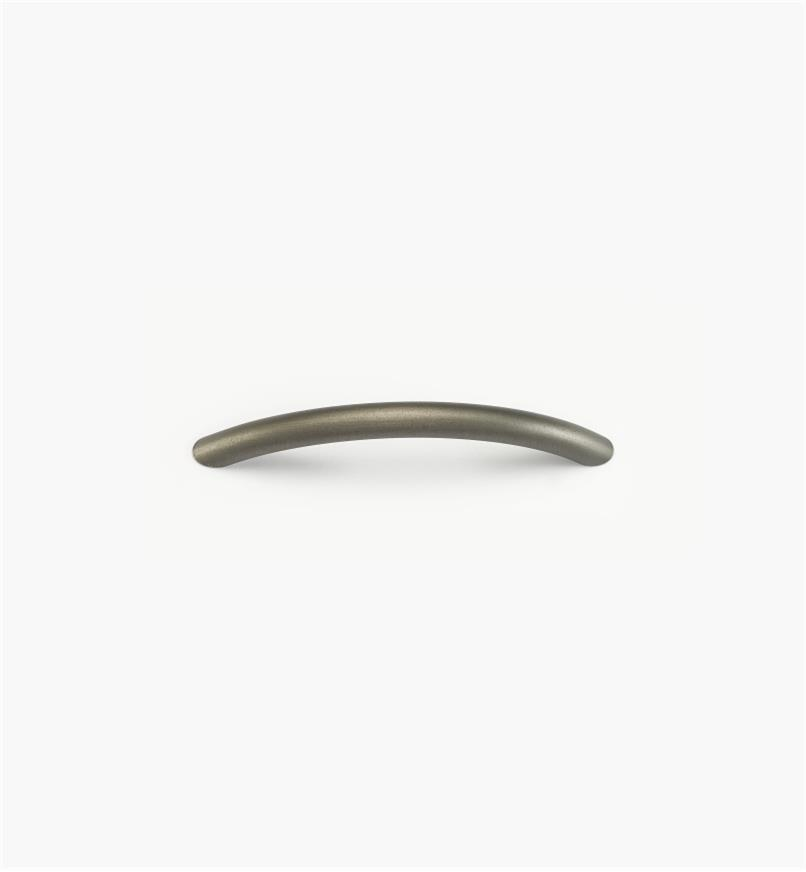 02W1664 - Pewter Suite - 96mm Forged Brass Smooth Arch Handle