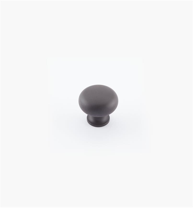 "02W1801 - 1 1/4"" x 1 1/8"" Oil-Rubbed Bronze Plain Knob"