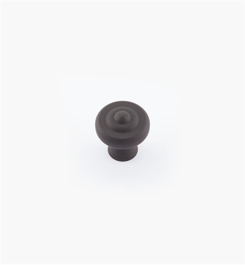 "02W1802 - 1 1/4"" x 1 3/8"" Oil-Rubbed Bronze Ring Knob"
