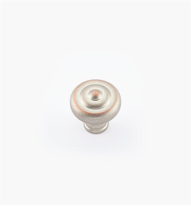 "02W1843 - 1 1/2"" x 1 1/2"" Weathered Nickel-Copper Ring Knob"